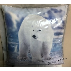 Coussin Ours Polaire