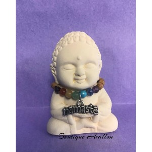 Bouddha gypse Namasté
