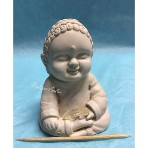 Bouddha gypse cristal clair