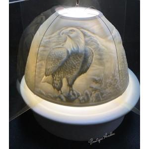 Lumière dôme porcelaine