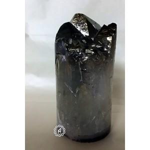 Cylindre d'améthyste titanium
