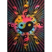 Murale en tissu Yin Yang